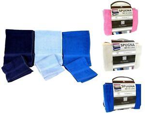 Set asciugamani in spugna 1 1 viso ospite bagno 6 pezzi - Set bagno renato balestra ...