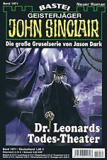 JOHN SINCLAIR ROMAN Nr. 1971 - Dr. Leonards Todes-Theater - Marc Freund NEU