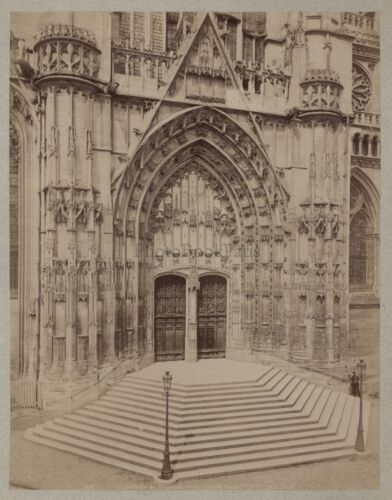 Cathedral Beauvais France Art Religion Vintage albumin ca 1880