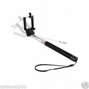 HIGH QUALITY SELFIE STICK WITH INBUILT AUX WIRE , NO NEED TO CARRY REMOTE