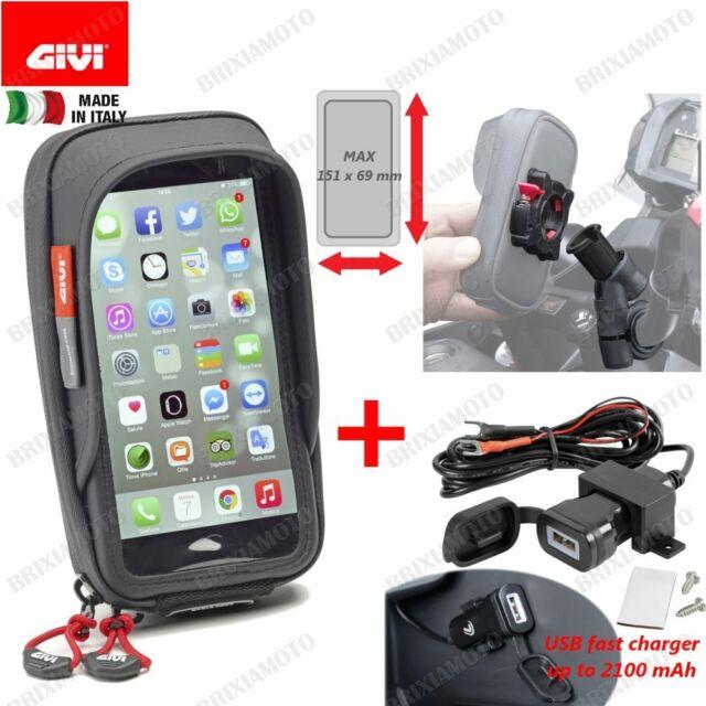 PORTA SMARTPHONE 81X160 GIVI S957B + USB KAWASAKI 650 KLE VERSYS 2012-2013