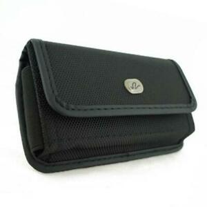 BLACK-RUGGED-CANVAS-SIDE-CASE-COVER-PROTECTIVE-POUCH-BELT-G8D-for-SMARTPHONES