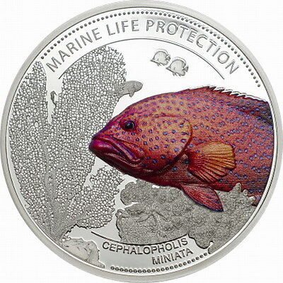 Palau 2016 Coral Hind 5$ Colour Silver Coin,proof To Suit The People'S Convenience