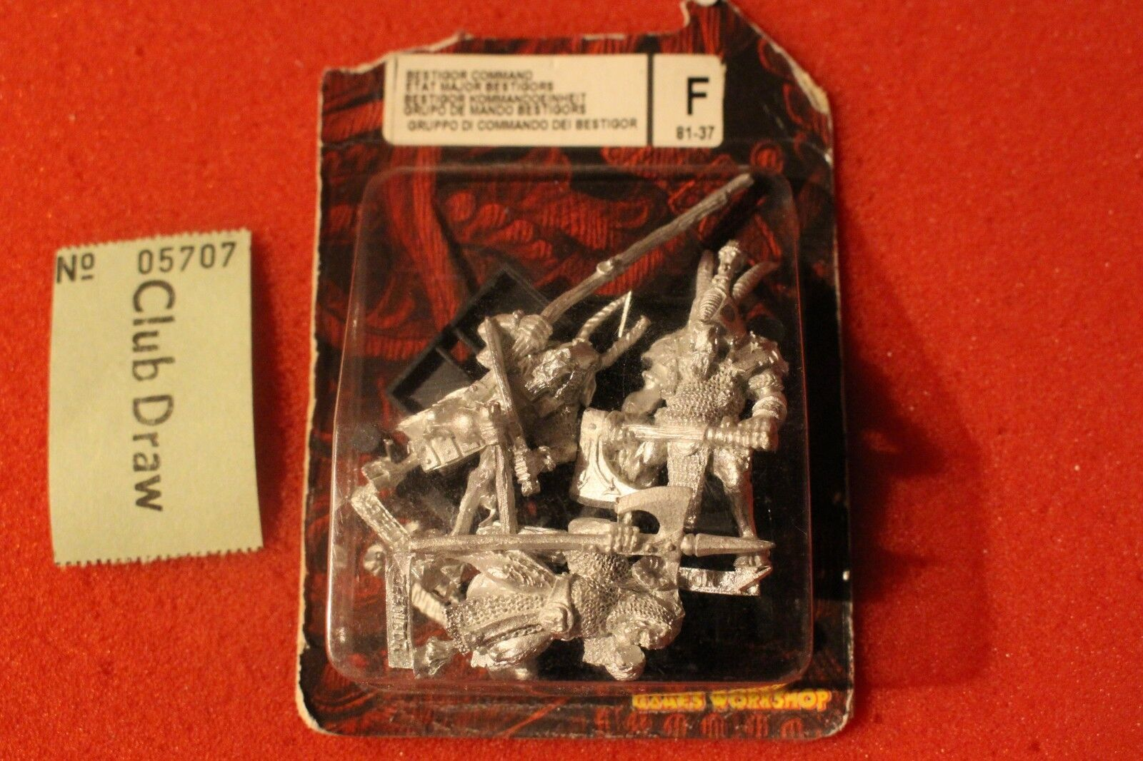 Games Workshop Warhammer Beastmen Gors Command Group Metal Figures New Bestigors