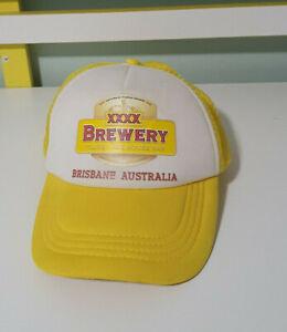 XXXX-BREWERY-HAT-BEER-HAT-BRISBANE-AUSTRALIA-YELLOW-CAP