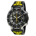 Tissot T-Race Chronograph Black Dial Black and Yellow Rubber Mens Watch