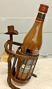 Cowboy Wine Bottle Holder Horseshoe New With Tag Ebay