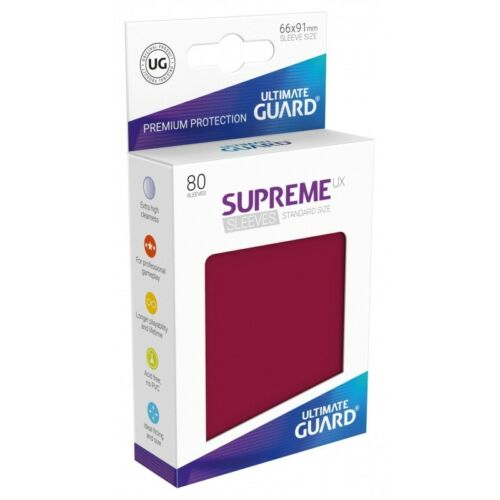 MATTE BURGUNDY Ultimate Guard SUPREME UX STANDARD Size Card Sleeves 80