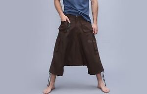 afghani uomo Pantaloni da tasche Goa corti pantaloni harem Aladdin molte con alibaba wBApxqHpZ