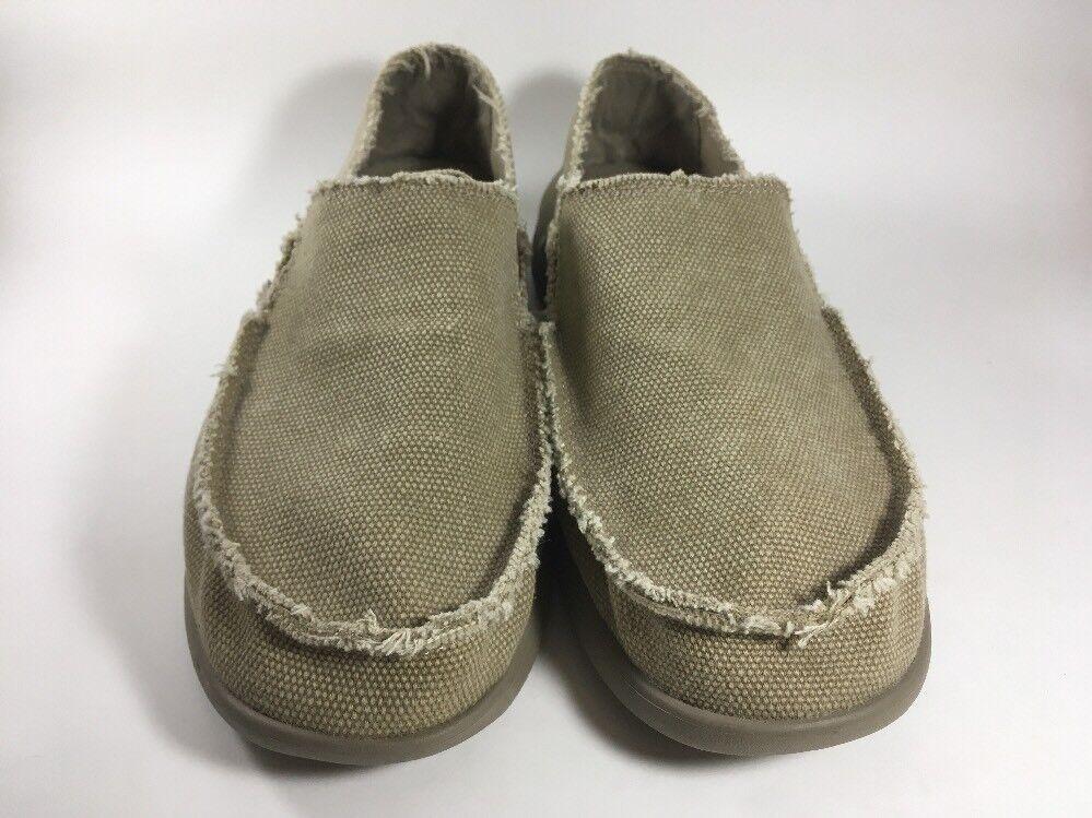 a1022a3466c8 ... Crocs Crocs Crocs Santa Cruz Canvas Slip-On Shoes Loafers Men s 8 Tan  Khaki 480a3f ...