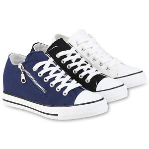 Absatz Details Sneaker Zipper Sneakers Damen Turnschuhe Wedges Schuhe 812557 zu Keil 8w0Nvmn