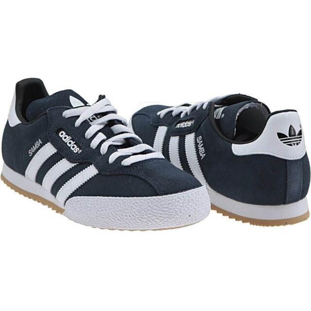 best service 70e56 9b902 Adidas Originals Uomo Samba Super Camoscio Limitata Lingua Bianco Sporco