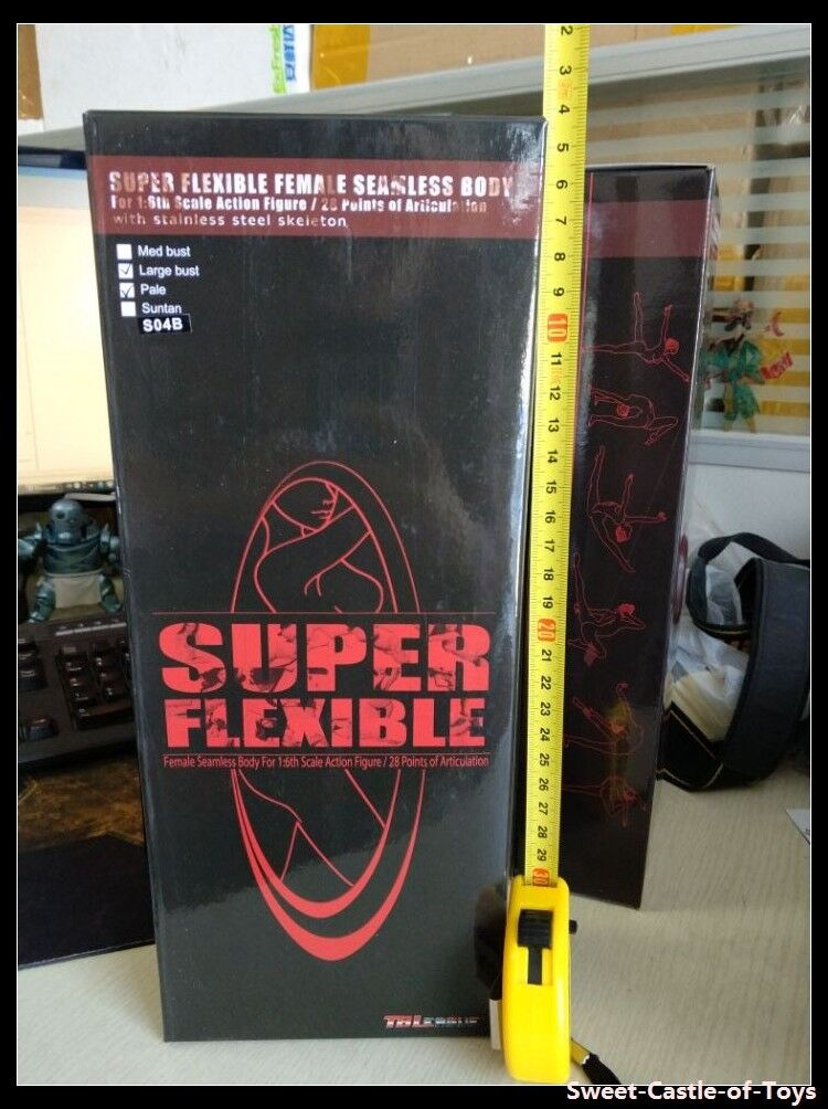 1 1 1 6 Phicen Flexible Acero Esqueleto sin Costuras Pálido Medio Bust S01a Cuerpo 2df007