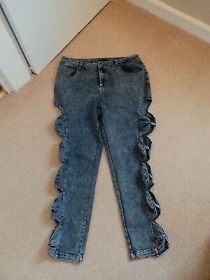 """Nuovo Donna Nextmia Blu Taglia 16 Jeans W36"""" L27""""-mostra Il Titolo Originale"""