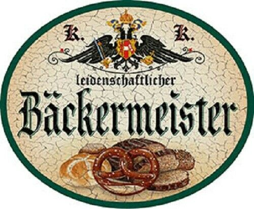 Nostalgieschild Bäckermeister