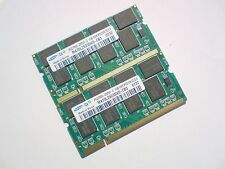 2GB 2x1GB PC2700 DDR333 CL2.5 SO-DIMM 333Mhz SAMSUNG LAPTOP SODIMM RAM SPEICHER