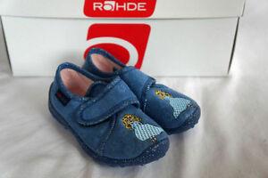 Rohde-Schuhe-Kinderhausschuhe-Blau-Prinzessin-Gr-23-Klettverschluss