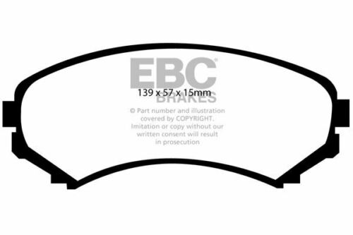 DP41619R EBC Yellowstuff Plaquettes Frein Avant Fit Mitsubishi Grandis Pajero Shogun