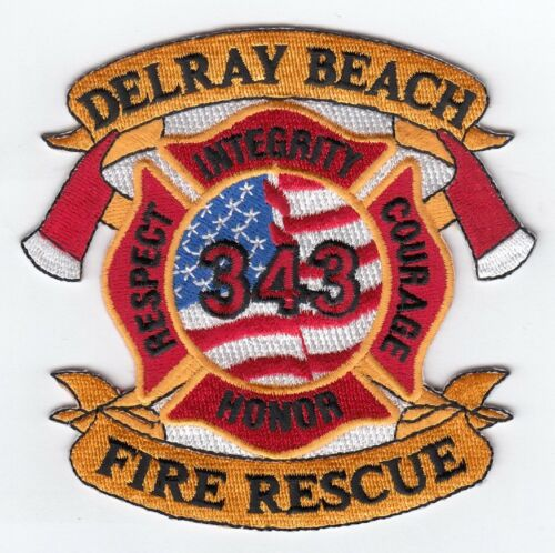 Delray Beach  Fire Rescue fire patch Florida Honor-Respect-Courage