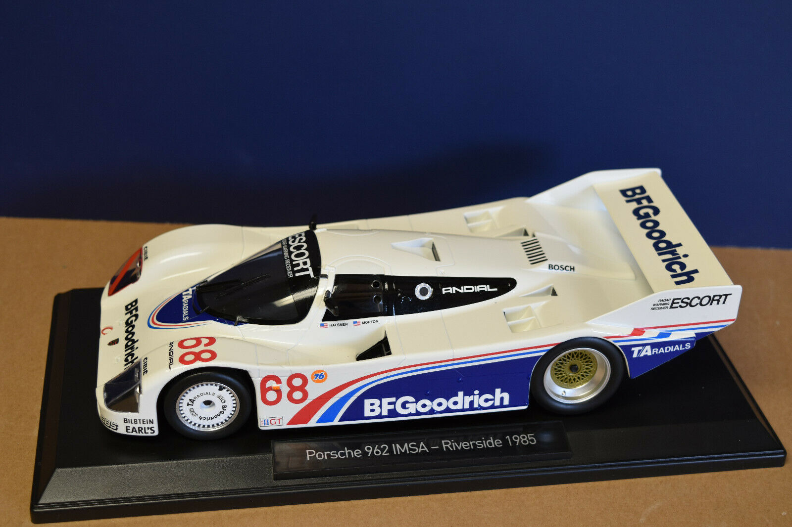 Norev 1 18 Porsche 962 IMSA Riverside 1985  BFGoodrich  (1 of 1000 Pieces) NEW