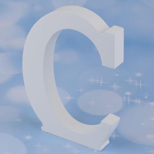 Decorazioni di matrimonio in legno bianco lettere lettere alfabeto A-Z