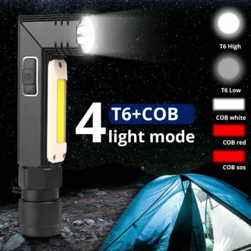 35000LM LED Flashlight USB Rechargeable 5Modes Headlamp Work Light Magnet Torch