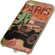 Cover Custodia Per iPhone 4S e 4 Paris Story + Pellicola Proteggi Display