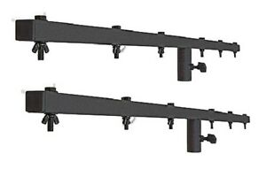 2-x-Pulse-Heavy-Duty-1-5m-Lighting-Stand-T-Bar-T-BAR-Black-DJ-Disco-Stage
