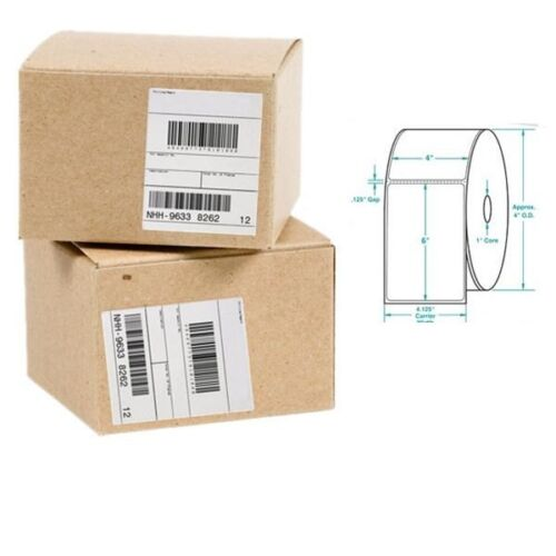 """10 Rolls 250 4/""""x6/"""" Zebra Eltron Direct Thermal Printer Shipping Labels Packing"""