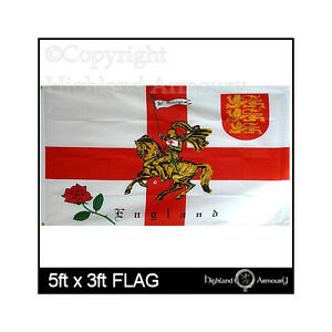 ST GEORGE/'S ST GEORGE WITH CHARGER FLAG 5ft X 3ft