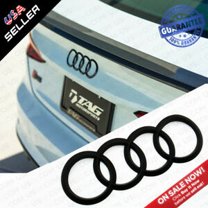 Details about A5 S5 RS Sportback Matte Black Trunk Logo Rings Badge Emblem  Decoration Modified