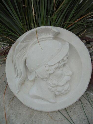 """Relief Gartenfigur Stuckbild Wandbild /""""Römer/"""" Ø 49 cm Steinguss Fassadenstuck"""