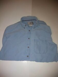 Vintage-The-Territory-Ahead-Men-039-s-XL-Tall-Long-Sleeve-Blue-Button-Up-Shirt