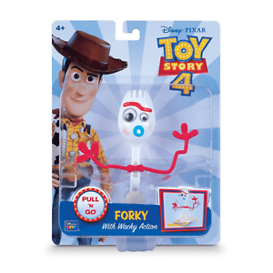 Toy Story 4 Pull N Go Forky Toy With Wacky Action Disney Pixar Ebay