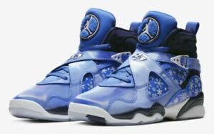 6439f247d796 Boys Air Jordan 8 Retro (GS) 305368-400 Cobalt Blaze NEW Size 4.5Y ...