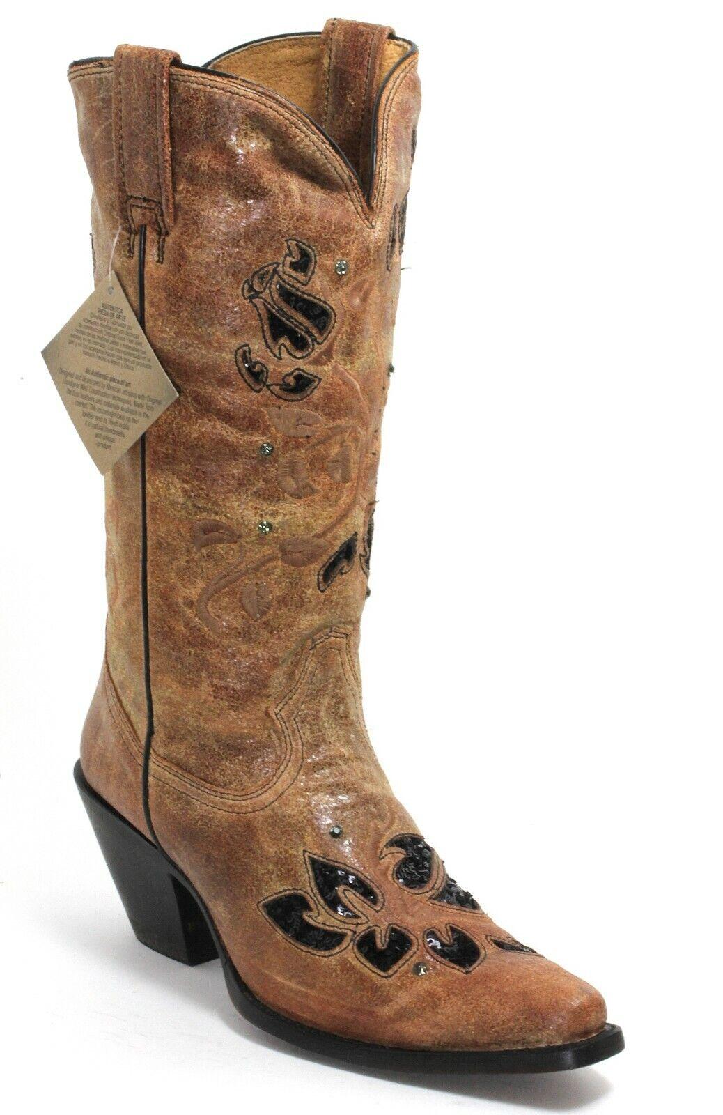 235 Cowboystiefel Westernstiefel Texas Rudel Catalan Style Stiefel Fashion 37