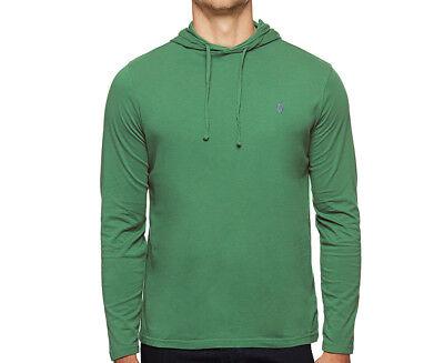 Polo Ralph Lauren Men/'s Green Pullover Hooded T-Shirt Hoodie