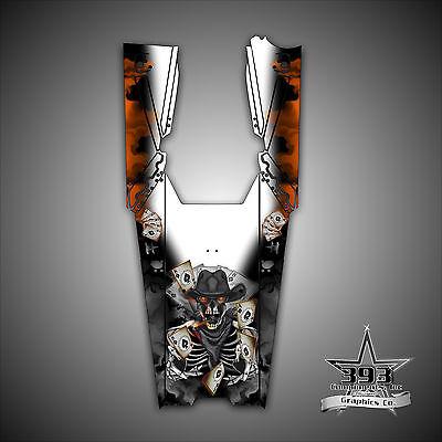 Arctic Cat ProClimb ProCross Graphics Kit Wrap With Tunnel Evil Joker Orange