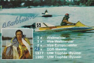 Bernd-BECKHUSEN-DDR-Motorbootsport-Gold-WM-1983-Original-Autogramm