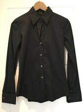 Theory Stretch Cotton Long Sleeved Button Down Shirt Ivy P Petite XS S Small New