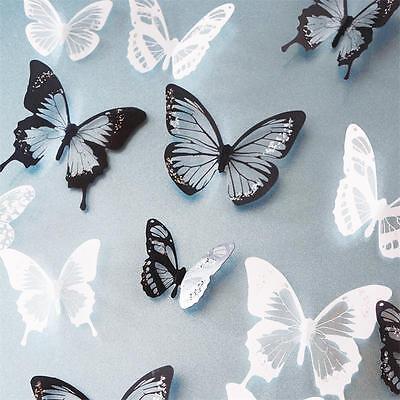 18pcs DIY 3D Butterfly Wall Stickers Art Decal PVC Butterflies Home Room Decor