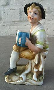 B20150828 -petit Accordéoniste En Biscuit De Porcelaine 1950-70 - Très Bon état CoûT ModéRé