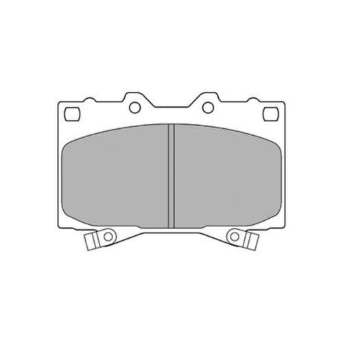 Fits Toyota Land Cruiser 150 J15 3.0 D-4D Delphi Front Rear Disc Brake Pads