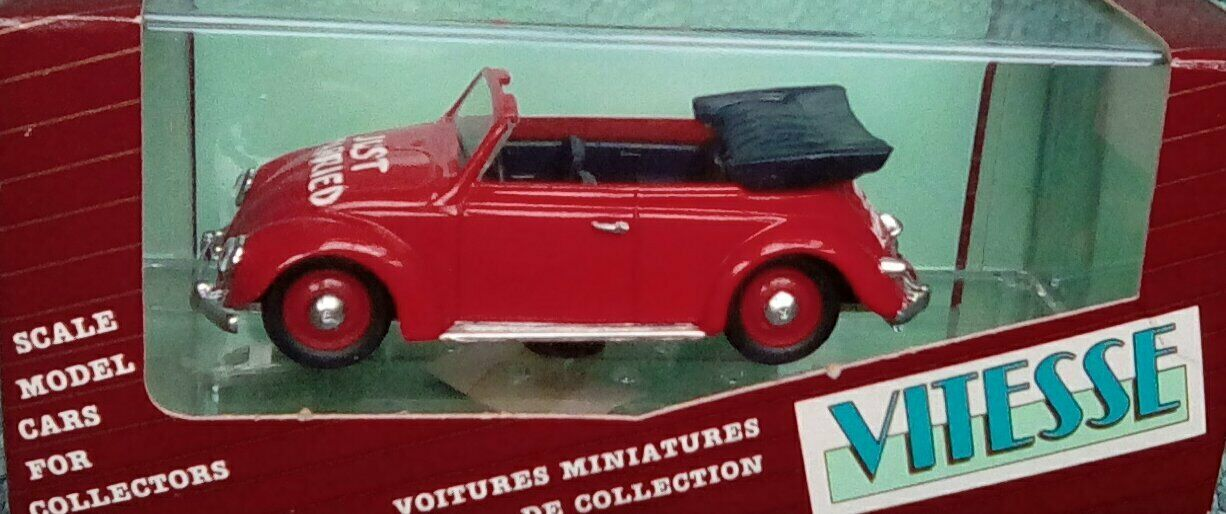 RARE VITESSE VW Beetle Just Married Cabriolet 1 43 Ltd Edt dans boîte d'origine