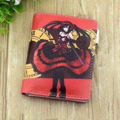 Date A Live Kurumi Tokisaki PU Wallet Bifold Purse Anime Gift