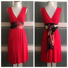51d24f5982775d item 5 NWOT Ted Baker Red Floral V Neck Waist Tie Cocktail Evening Dress Sz  1 US 0 2 -NWOT Ted Baker Red Floral V Neck Waist Tie Cocktail Evening Dress  Sz 1 ...