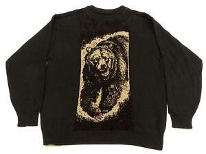 Casual Tip Colucci Grizzly Orso Carlo Tg Vintage Retro Top L Pullover Marrone wxvfYfq