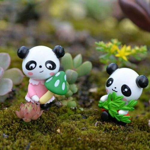 4pcs Panda miniature figurine Cartoon Animal Statue modèle enfants cadeaux belle
