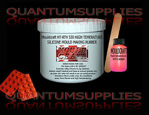 Mouldcraft-HT-RTV-530-Shore-A30-250g-HIGH-TEMPERATURE-SILICONE-MOULD-MAKING-KIT