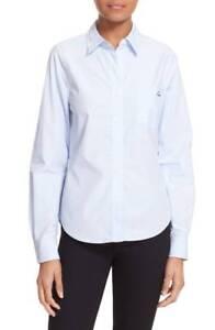 NWT-Kate-Moss-for-Equipment-039-London-039-Oxford-Shirt-Size-Med-Blue-Women-039-s